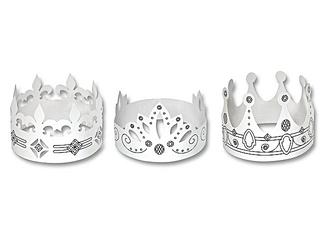 Kronen - Krone, König, Märchen, Sage, Schmuck, Kopfschmuck, Illustration, Anlaut K, Mehrzahl, Plural