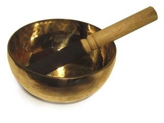 Tibetische Klangschale  - Tibetische Klangschale, Ton, Vibration, Musik, Klang, klingen, Schale, Metall, Instrument, Bronze, Halbkugel