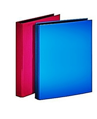 zwei Akterordner - Ordner, Hefter, Mappe, Kunststoff, farbig, zwei, stehend, Ordnung, Schriftgutbehälter, sammeln, ordnen, Akten, Akte, rot, blau
