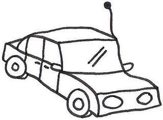 Auto - Auto, Wagen, Verkehr, Verkehrserziehung, Comic, Cartoon, Ausmalbild, ausmalen, anmalen, gestalten, ferngesteuert, Fernsteuerung, Fernsteuerauto, Automobil, Straße, Straßenverkehr