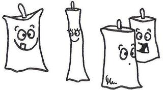 Kerzen - Kerze, Kerzen, Gesicht, zum Leben erwecken, Schreibanlass, kreativ, Kreativität, Weihnachten, fröhlich, lustig, witzig, glücklich, Unterschied, unterschiedlich, Stimmung, Emotion, Emotionen, männlich, weiblich, maskulin, feminin, Cartoon, Comic, Ausmalbild, anmalen, Arbeitsbogen
