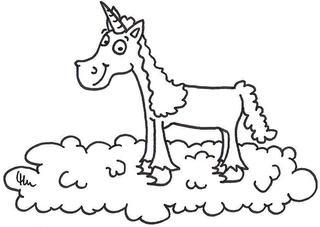 Einhorn - Einhorn, Wolke, Fabelwesen, Einhörner, Pferd, reiten, Mythologie, Märchen, Wunsch, Fabelwelt, märchenhaft, Ausmalbild, ausmalen, anmalen, Comic, Cartoon, Schreibanlass, kreatives Schreiben, Zebra, Wesen