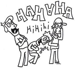 Lachende Jungs - Jungs, Junge, Jungen, Kind, Kinder, Freude, Schadenfreude, Freunde, gehässig, Mobbing, Bullying, auslachen, Lachen, freuen, Spaß, Lachkrampf, Freundschaft, Schreibanlass, kreativ, Kreativität, Fortsetzung, Cartoon, Comic, Bildergeschichte, anmalen, ausmalen, Anmalbild, Ausmalbild, Arbeitsbogen, Illustration, Fortsetzungsgeschichte, Wörter mit ch