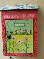 Briefkasten - Briefkasten, Past, Briefe, Blumen, Kunst, Gestaltung