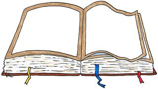 offenes Buch (farbig) - Schreibanlass, Bibel, alt, altes, Buch, Bücher, Wälzer, dick, dicker, dickes, schwer, schweres, Geschichte, Erzählung, Märchen, Vokabel, Begriff, book, Englisch, Wortkarte, Vokabeln, kreativ, lesen, Lexikon, Wörterbuch, Roman, Bindung, Bucheinband, Papier, Seiten, nachschlagen, lernen