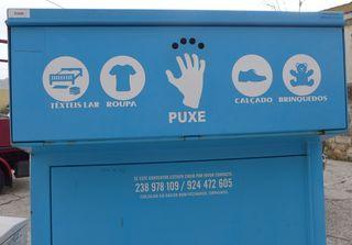 Container nicht nur für Altkleidersammlung - têxtiles, roupa, calcado, brinquedos, puxe, têxteis lar