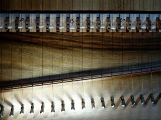 Clavicytherium 3 - Clavicytherium, Klaviziterium, Tasteninstrument, besaitet, Saiten, Tasten, Klaviatur, Mittelalter, Instrument, Klavizitherium, Musik, Musikunterricht, Musiklehre, mittelalterlich, Nachbau, Saiteninstrument, Zupfinstrument