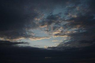 Wolken - Wolken, Himmel, Sonnenuntergang, Abend, Abendstimmung, Wetter, Dämmerung