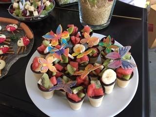 Fruchtsalat - Obst, Salat, Frucht, Buffet, gesund, Frühstück, anrichten, dekorieren