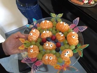 Mandarinen, dekoriert - Mandarinen, Obst, gesund, Frühstück, Buffet, anrichten, dekorieren
