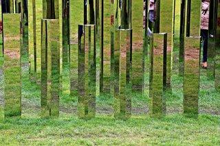 Spiegellabyrinth #2 - Sinneswahrnehmung, Reflexion, Spiegel, spiegeln, reflektieren, Labyrinth, Natur, Landschaft, Garten, bewegen, Bewegung, orientieren, Suche, Weg, Wege, Richtung, Richtungsänderung, spielen, Freizeit, fördern, laufen, Kunst, Objektkunst, Ethik, Ansicht