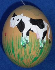 Osterei mit Kuh - Osterei, Ostern, Ei, Dekoration, Frühling, bemalt, Brauchtum