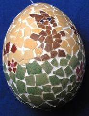 Osterei mit Mosaik, Hase - Osterei, Ostern, Ei, Dekoration, Frühling, bemalt, Brauchtum
