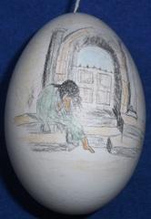Osterei, Zeichnung,  - Osterei, Ostern, Ei, Dekoration, Frühling, bemalt, Brauchtum