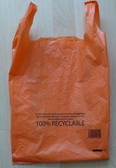 Aufschrift französischer Plastikbeutel #3 - biodégradable, Plastik, Plastikbeutel, sachet, plastique, Umwelt, Ökologie, recyclable, réutilisable, matière recyclée, transition énergétique
