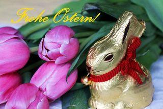 Ostergruß - Ostern, Karte, Gruß, grüßen, Tulpe, Osterhase, Oster Frühling, Fest, österlich, Osterei, froh, Freude, Grüße, schreiben, Tulpen, Tradition, Schreibanlass, Impuls, gestalten, Gestaltung, Feiertag