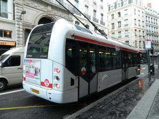 O-Bus Lyon - Frankreich, Lyon, O-Bus, Obus, Verkehrsmittel, moyen de transport