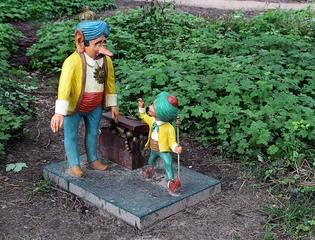Märchenfiguren - Der kleine Muck #2 - Märchen, Märchenfigur, Figur, Figuren, Muck, Vater, Rahmengeschichte, laufen, Schreibanlass, Geschichten, Erzählanlass