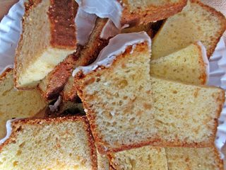 Zitronenkuchenstücke - Kuchen, Sandkuchen, backen, Bäcker, Anlaut K, Stück, aufgeschnitten, Wörter mit ch, Frühstück, Buffet, Gebäck, süß, frühstücken, essen