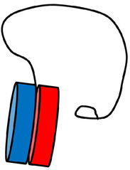 Jo-Jo farbig - Jo-Jo, Jojo, Spielzeug, Kinderspielzeug, Scheiben, zwei, Schnur, Anlaut J, Freizeit, drehen, Fliehkraft, Achse, Tricks, Schlaufe