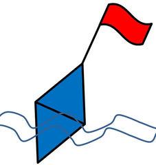 Boje farbig - Boje, Seezeichen, Markierung, Zeichnung, Schwimmkörper, Signal, Anlaut B, Wörter mit j