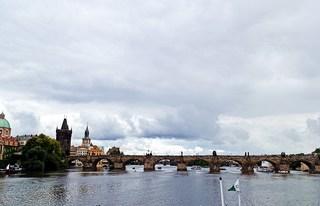 Prag  - Fluss, Landschaft, Burg, fremdes Land, Prag, Moldau, Hradschin, Veitsdom, Prager Burg, Tschechien, Tag, Brücke, Karlsbrücke, Wahrzeichen