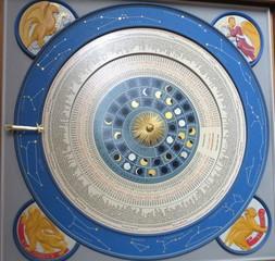 Astronomische Uhr in Lübeck # 2 - Uhr, Zeit, Zeitmessung, Astronomie, Kalenderscheibe, Mondphasen, Sonnenstand, Planetenstellung