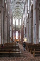 Marienkirche Lübeck - Kirche, Gotik, Baustil, Architektur, Backstein, Gewölbe