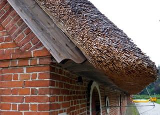 Reetdachscheune auf Gut Hasselburg # 2 - Architektur, Scheune, Landwirtschaft, Reet, Reetdach, Ortgang