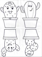 Comic-Kakteen für die Klassenzimmertür 2 - Klassenzimmergestaltung, Kaktus, Namensschild, Türgestaltung