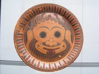 Keramikteller mit Gorgonenantlitz - Griechenland, Griechen, Antike, Lyder, Lydien, Kunst, Gorgone, Keramik, Kunst, Kunsthandwerk
