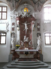 Schlosskirche in Meersburg#1 - Schlosskirche, Meersburg, Rokoko, Kirche, Altar, Brauchtum, Religion, Kreuz