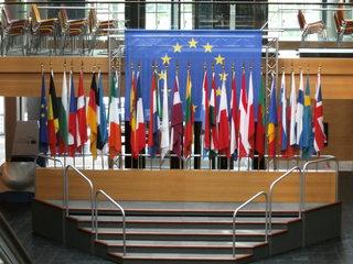 Europäisches Parlament Straßburg#4 - Europaparlament, Parlament, EU, europäisches Parlament, Straßburg, Fahnen, Länder