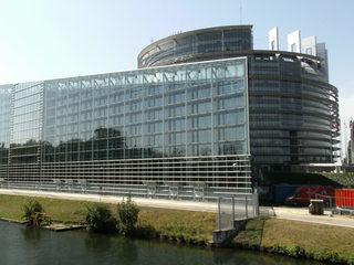 Europäisches Parlament Straßburg#3 - Europaparlament, Parlament, Parlamentsgebäude, EU, europäisches Parlament, Straßburg, Glas, spiegeln