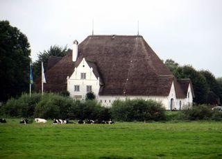 Roter Haubarg # 1 - Architektur, Hallenhaus, Reetdach, Fachwerk, Bauernhaus
