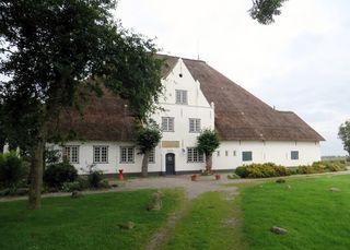 Roter Haubarg # 2 - Architektur, Hallenhaus, Reetdach, Fachwerk, Bauernhaus