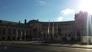 Wiener Hofburg - Wien, Hofburg, Gegenlicht, Österreich, Kaiser, Ringstraße, Residenz, Kaiserresidenz, Monarchie, Gebäude