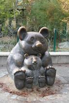 Pandaskulptur - Panda, Pandababy, Schönbrunn, Skulptur, Tier, Bär, Wien, Tiergarten
