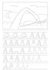 Ausmalbilder Buchstabe A - Buchstaben, Ausmalbild, A, schreiben, nachspuren, malen, ausmalen