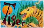 Farbbeispiel Ausmalbild Buchstaben T  - Ausmalbild, Buchstaben, Farbbeispiel