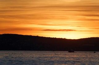 Abenddämmerung - Abendsonne, Frieden, Stille, Boot, Sonnenuntergang, Natur, Abend, Meditation, Horizont, Himmelserscheinung, Sonne, Abendrot