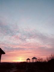 Morgenstimmung - Ruhe, Frieden, Himmel, Zuversicht, Morgenstimmung, Sonnenaufgang, Wetter, Wolken, Sonne, Schatten, Stimmung, Morgenröte, Dämmerung, Wolken, Licht