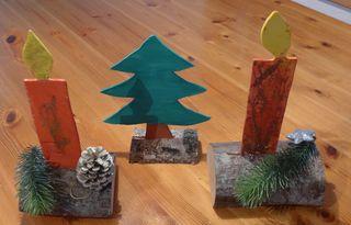 Weihnachtsdekoration #4 - Dekoration, Weihnachten, Bazar, Advent, Weihnachtsbazar, Laubsägearbeit, Tannenbaum, Kerze