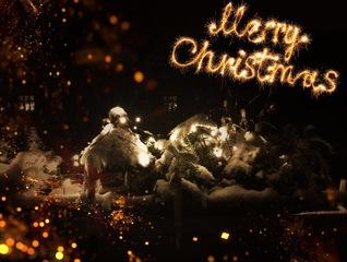 Weihnachtsgruß  - Schnee, Winter, Weihnachten, Kerzen, Licht, leuchten, winterlich, warm, kalt
