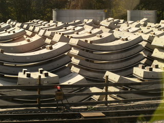 Tunnelbau#8 - Tunnelbau, Bahnprojekt, Eisenbahntunnel, Neubaustrecke, Wendlingen-Ulm, Verkehrsbauwerk, Tunnelprojekt, Baumaterial, Tunnelausbau, Tübbinge, Röhreninnenverkleidung