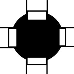 Kreisverkehr - Wegbeschreibung, Bild, Piktogramm, Kreisverkehr, Symbol, grafische Darstellung, Information