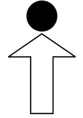 Gehe bis... - Wegbeschreibung, Bild, Piktogramm, Symbol, grafische Darstellung, Information