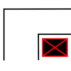 An der Ecke - Wegbeschreibung, Bild, Piktogramm, Ecke, Symbol, grafische Darstellung, Information