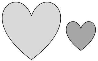 groß - klein  - Herz, groß, klein, Wörter mit ß, Gegensatz, Gegenteil, Symbol, Zuneigung, Liebe
