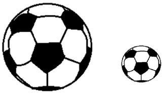 groß und klein - Fußball, Soccerball, Ball, Sport, spielen, Spielzeug, WM, EM, Kugel, Körper, Oberfläche, Volumen, Mathematik, Wörter mit ß, groß, klein, Anlaut F